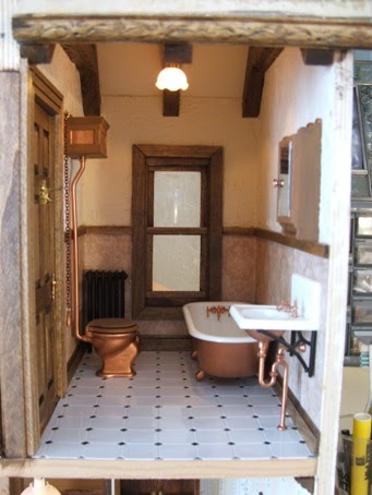 English Tudor Dollhouse Bathroom