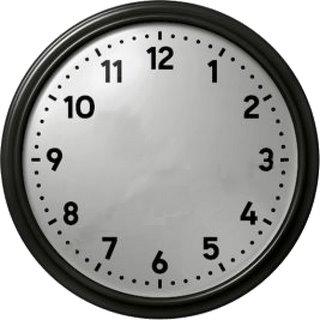 La velocidad infinita de sus agujas las haría invisibles a nuestros ojos,  pareciendo un reloj sin manecillas aparentemente, un reloj que no da  ninguna hora