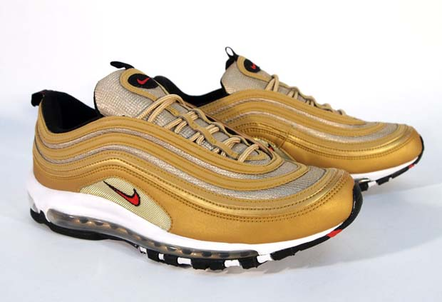 Nike Air Max 97 Gold Red Black