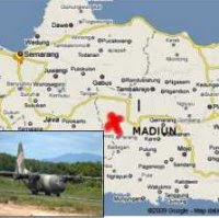 Flight accident in Madiun, East Java