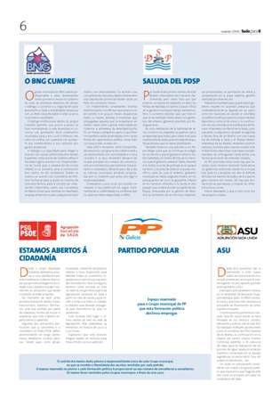 El PP de Sada denuncia la utilización de fondos públicos municipales para propaganda nacionalista