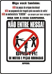 BASTA DE PEÇAS E MOTOS ROUBADAS