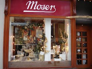 Витрина магазина фирмы Moser