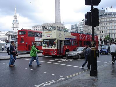 Автобусы на улицах Лондона