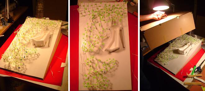 una selección de maquetas del proyecto se expone en la galería de El Croquis, El Escorial