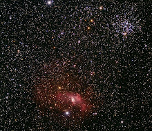NGC7635 and M52 taken by Carlo Rocchi