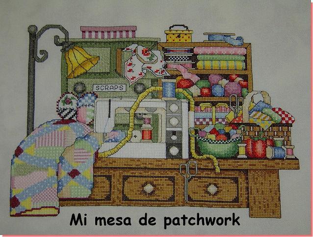 Mi mesa de patchwork