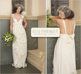 Eco friendly ideas from the wedding chicks backyard bride for Eco friendly wedding dresses