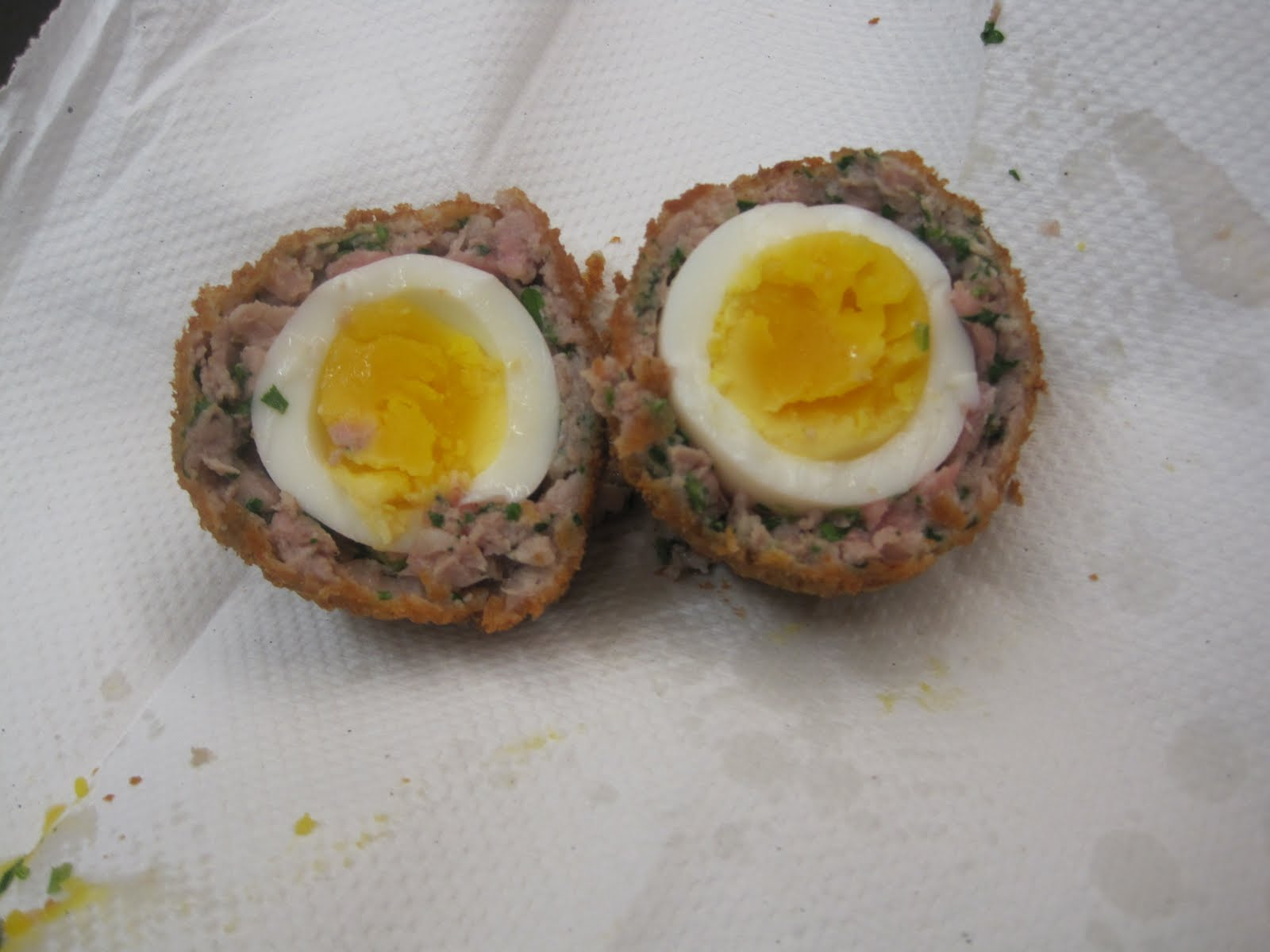 how to make runny scotch eggs