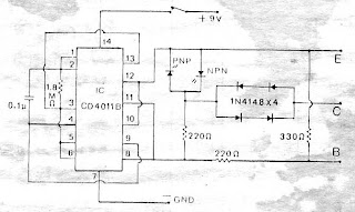 electronic \u0026 computer test transistor in circuit by ic 4011this circuit to test transistor in circuit (pcb), easy to use it use ic 4011 or cd4011 or mc14011 or tc4011 , very low cost supply volt 9v