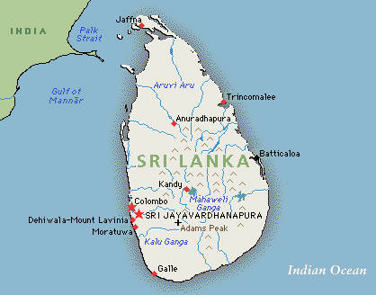 map of sri lanka with provinces. Meanwhile, Sri Lankan Prime