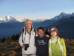 Me and my Friends Luke & Yan At Poon Hill-From HK