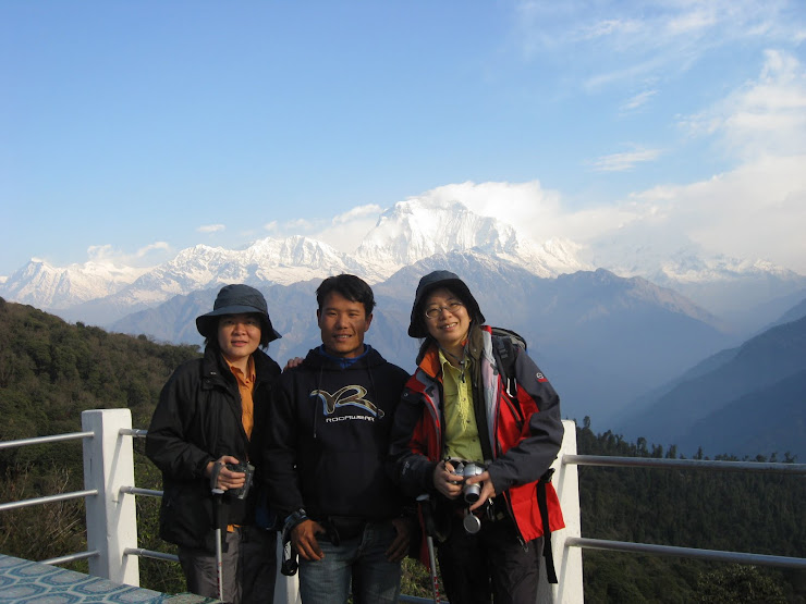 Me and my Trekkers Standing front of Dhaulagiri MOuntain-From HK