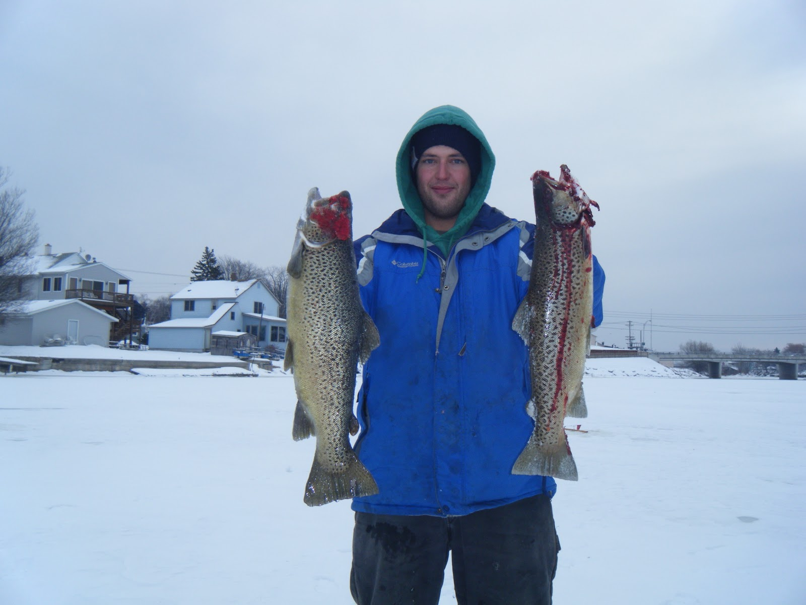 Wisconsin fishing reports tying spawn for trout fishing for Wisconsin trout fishing