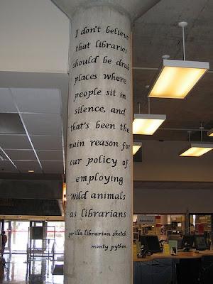Gorilla Librarian quote, Monty Python
