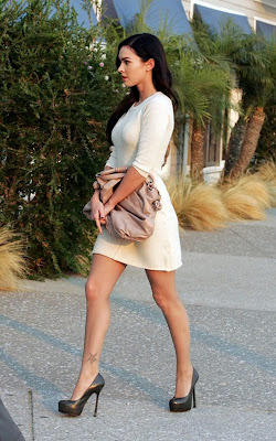 Megan Fox in Tight White Dress