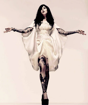 Kat von D Inked at Magazine February 2010