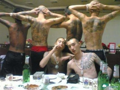 chinese triad tattoos. Chinese Triads