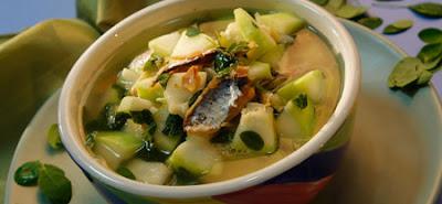 Sinabawang Upo and Salted Fish