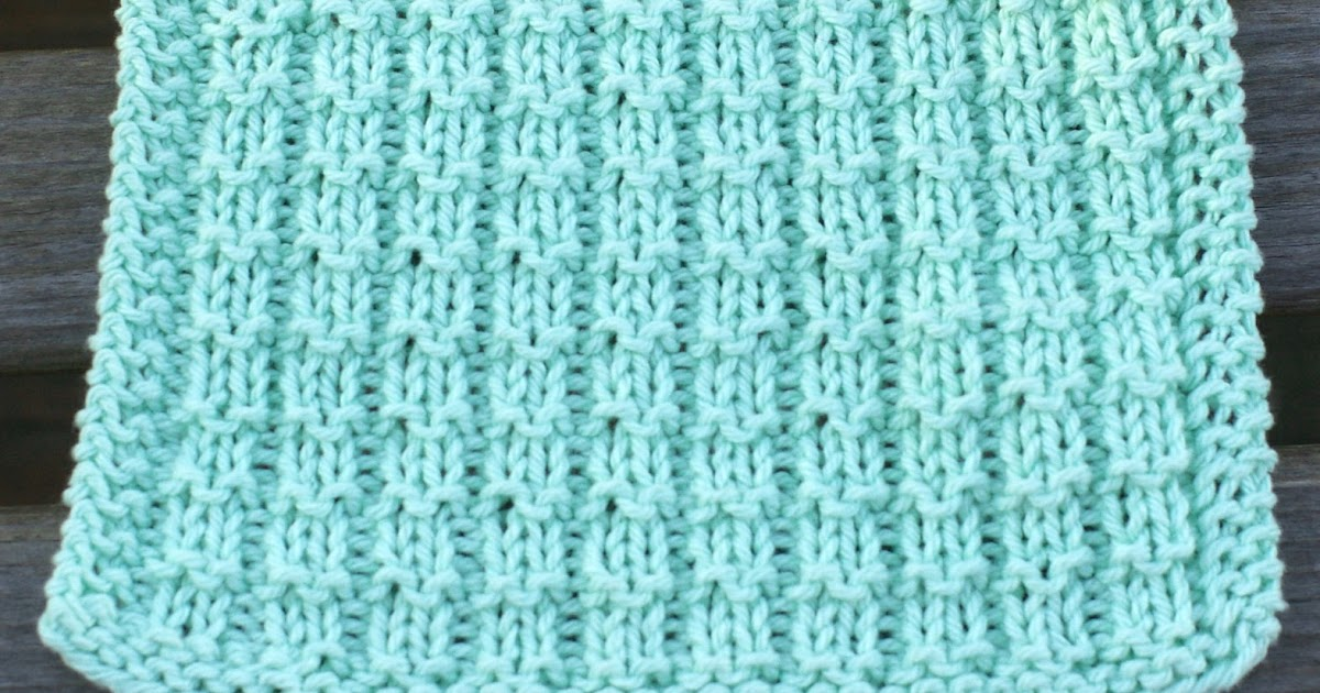 Knitting Stitches Pm : Knit with KT: Waffle Stitch Washcloth