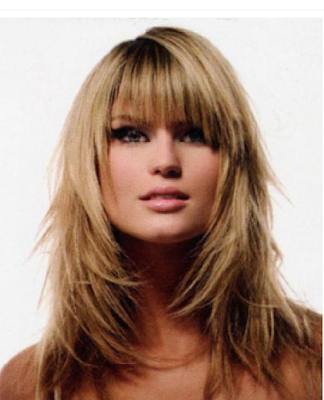 hairstyles long hair with side fringe. layered hairstyles for long