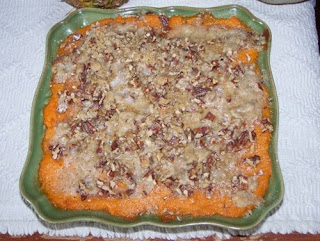 maple bourbon sweet potato casserole