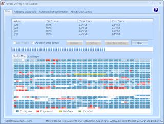 PuranDefragFree - Windows 7 de Disk Birle�tirme
