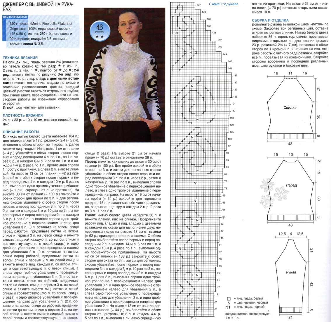 Вязание свитера реглан для девушки