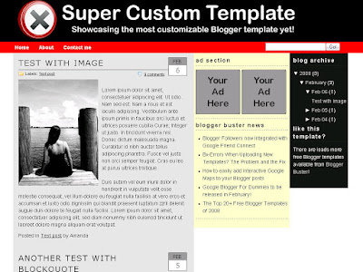 Free Blogger template for Blogger.com - SuperCustom