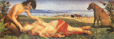 La muerte de Procris, Piero di Cosimo