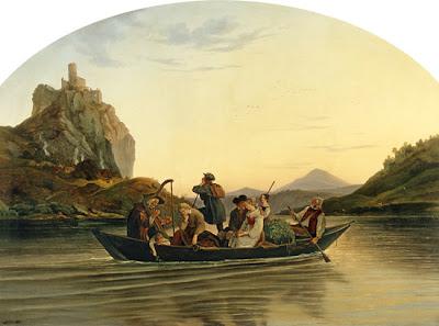 Paseo en barca a Schreckenstein, L. Richter