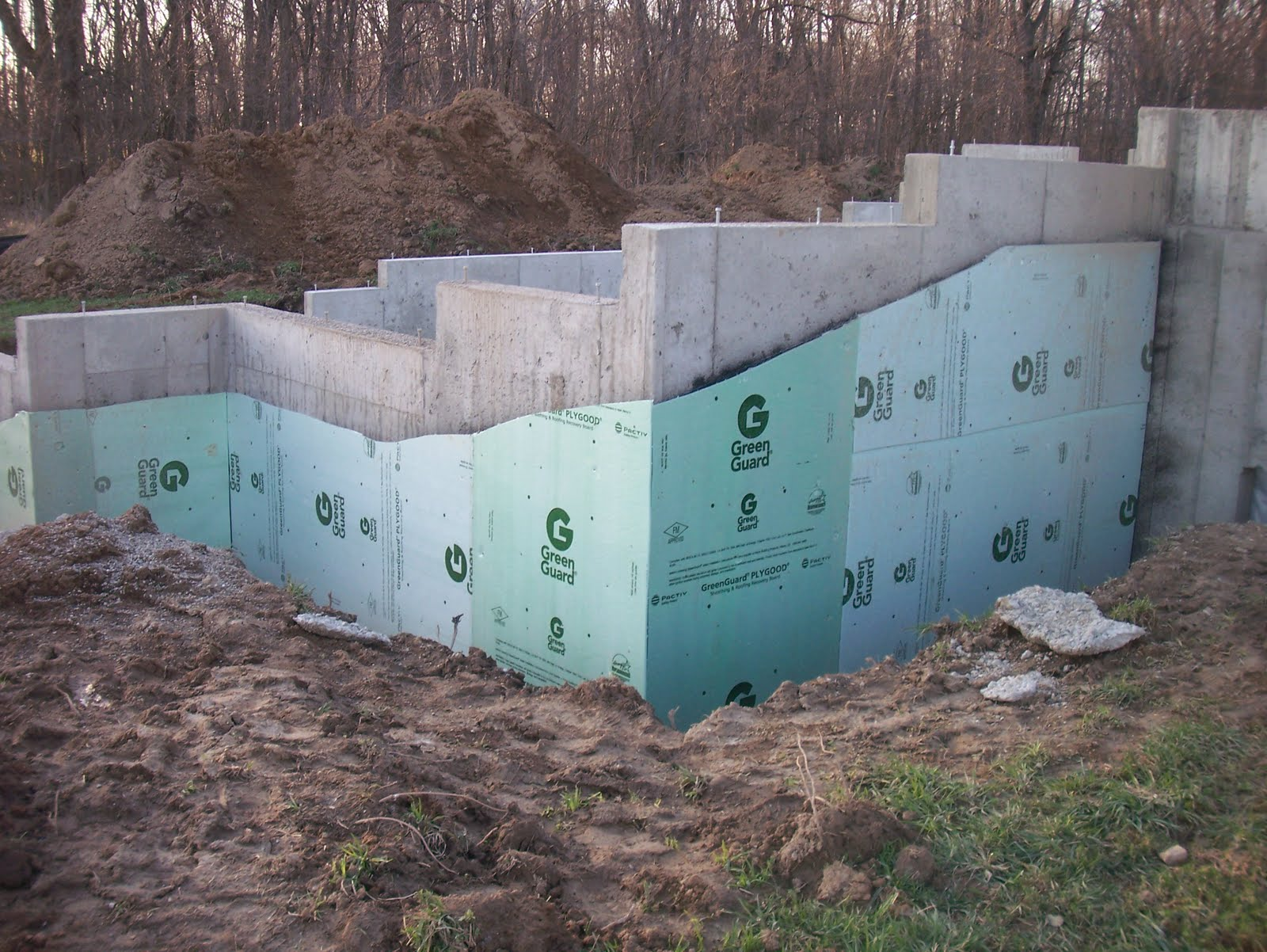 First home build poured concrete for Poured concrete basement walls