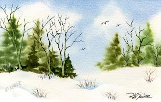 The Rita S Art Blog Winter Watercolors