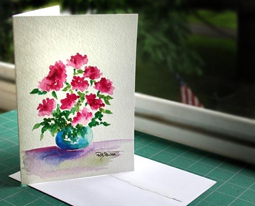 The ritas art blog tuesdays tips and techniques for watercolor tuesdays tips and techniques for watercolor painting watercolor greeting cards m4hsunfo