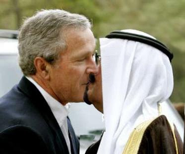 Bush kissing bin laden