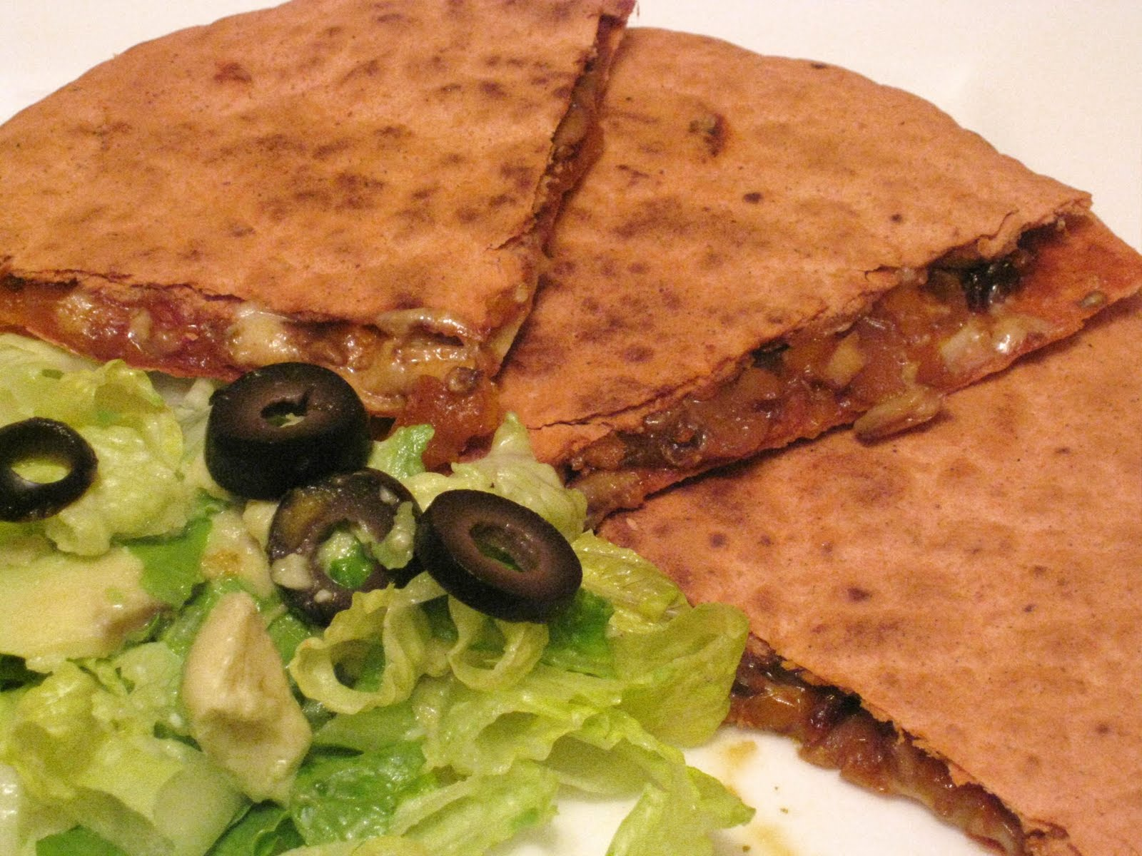 The Vegetarian Way: Chipotle roasted vegetable quesadilla