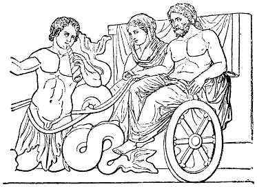[poseidon+och+amfritrite+pa+en+vagn+dragen+av+tritoner]