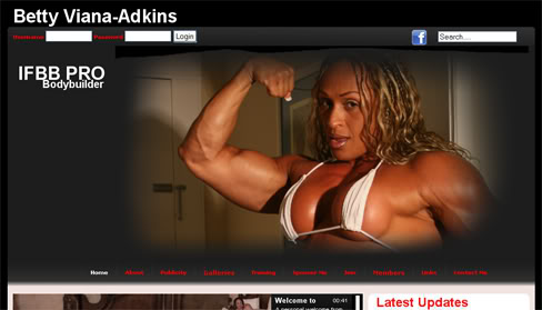 Pro Female Bodybuilder Muscle Betty Viana