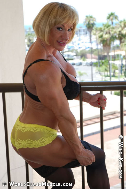 Kathy Connors Female Bodybuilder World Class Muscle