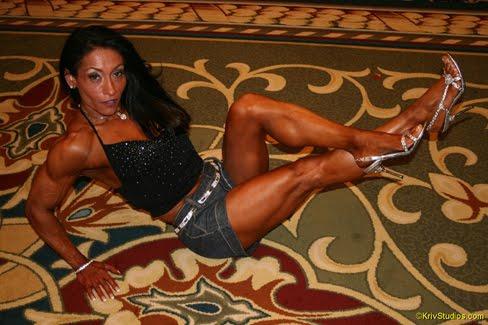Beni Lopez Female Muscle Bodybuilder Legs