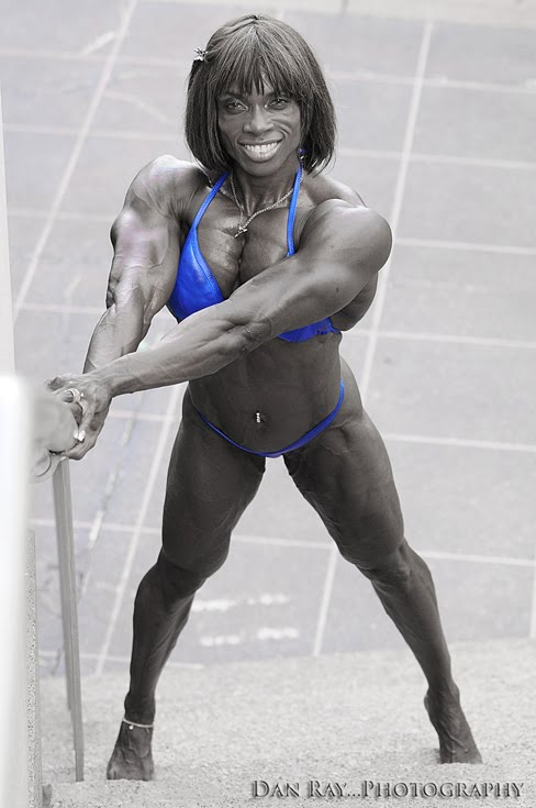Candice Carr-Archer Female Muscle Bodybuilder Ripped Physique