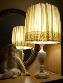 lampa stołowa shabby schic