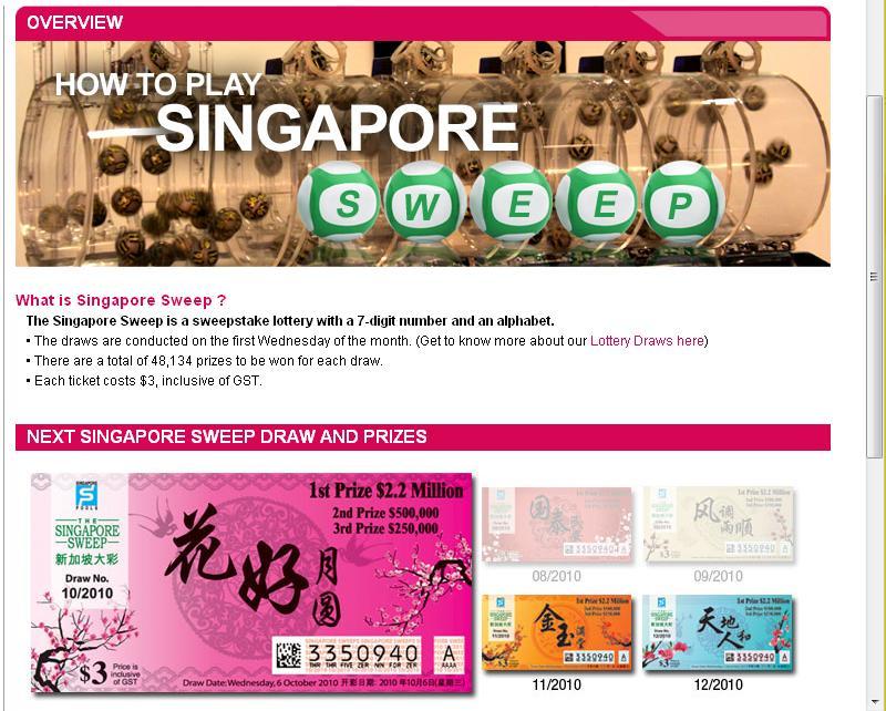抵世妮乐园thIs nIE lAnd: 又没中Singapore Sweep