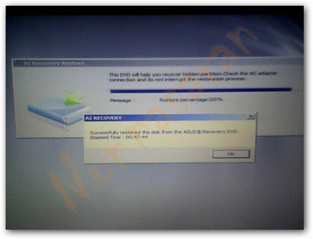 Recovery partition cannot be found asus
