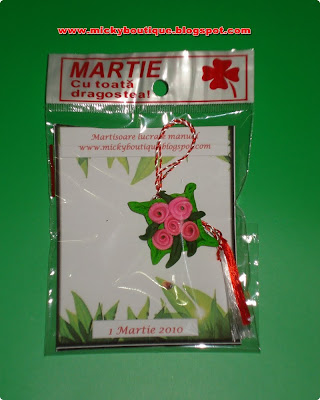 Martisoare lucrate manual - brosa ( handmade amulets) - 6 Ron ( 1,5 ...