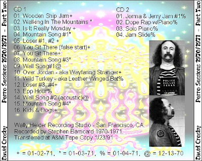 Cover Album of David Crosby - The Perro Sessions 1971 - Part 02 - 2 Cds
