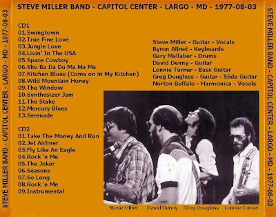Steve Miller Band - Capitol Center - Largo - MD - 1977-08-03