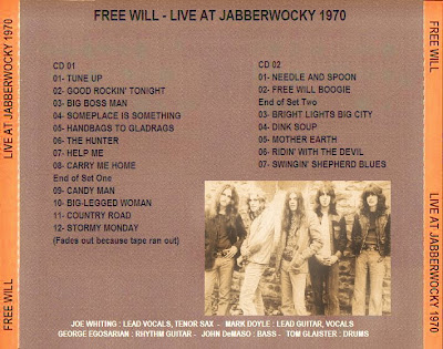 Free Will - Live At Jabberwocky 1970