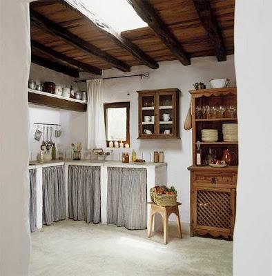 En mi espacio vital muebles recuperados y decoraci n - Decoracion cortinas cocina ...