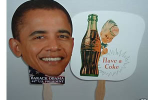HOME MADE OBAMA FAN